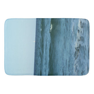 Rolling Ocean Waves Bath Mat