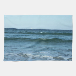 Rolling Ocean Waves Kitchen Towel
