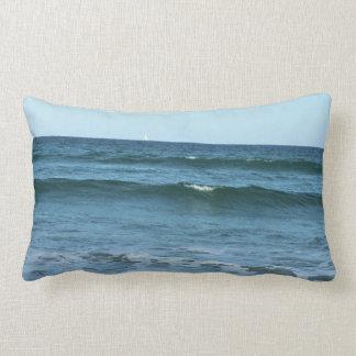 Rolling Ocean Waves Lumbar Pillow