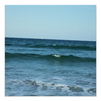 Rolling Ocean Waves Perfect Poster