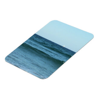Rolling Ocean Waves Rectangular Photo Magnet