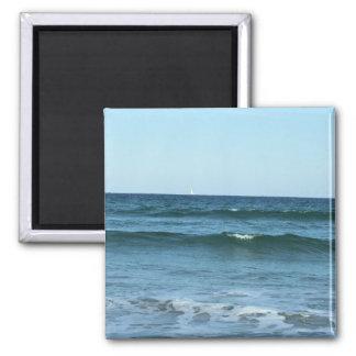 Rolling Ocean Waves Square Magnet