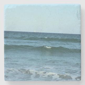 Rolling Ocean Waves Stone Beverage Coaster