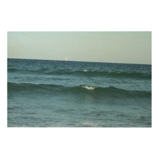Rolling Ocean Waves Wood Canvases