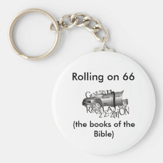 Rolling on 66, (the books of t... basic round button keychain
