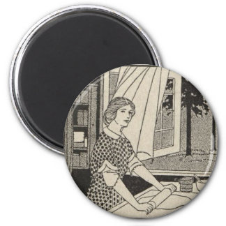 Rolling Pin Bettina 2 Inch Round Magnet