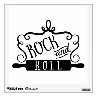 Rolling Pin Kitchen Quote Rock and Roll Wall Sticker