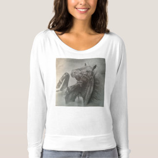 Rolling Pony Long Sleeve Flowy Womens T-Shirt