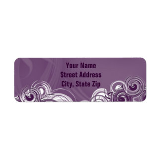 Rolling Purple Return Address Label