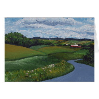 Rolling Valleys Greeting Card