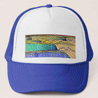 rolling waves trucker hat