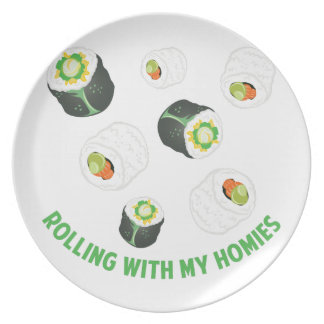 Rolling With Homies Dinner Plate