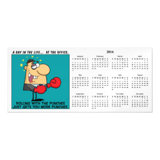 Rolling With the Punches Calendar Magnetic Invitations