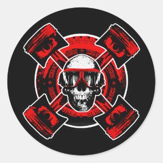 RollingBonez - Nitro Pilot Classic Round Sticker