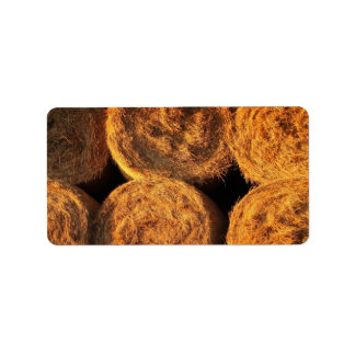 Rolls of Hay Personalized Address Label