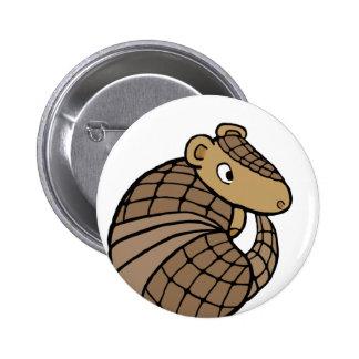 Rolly armadillo 2 inch round button
