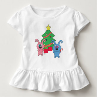 Rollys Christmas Day Toddler Ruffle Shirt