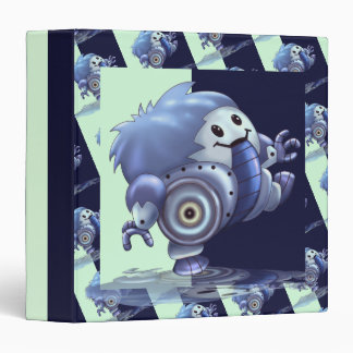 "ROLO ROBOT CARTOON  White  Touch™ EZD™ Ring Av1.5"" 3 Ring Binder"