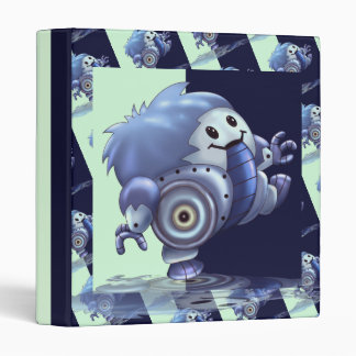 "ROLO ROBOT CARTOON  White  Touch™ EZD™ Ring Av 1"" Vinyl Binders"