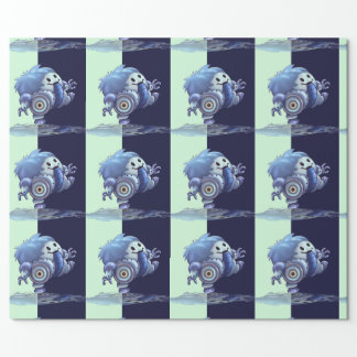 """ROLO ROBOT CUTE 30"""" x 30'   CARTOON Wrapping Paper"""