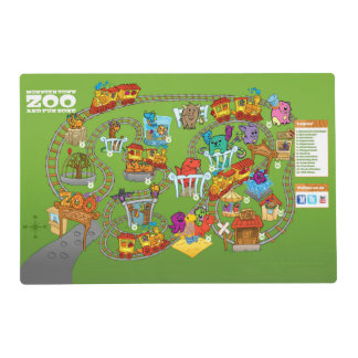 Roly-Poly Monster Double-Sided Placemat Laminated Place Mat