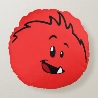 Roly-Poly Monster Throw Pillow