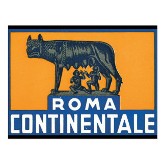 Roma Continentale_Vintage Travel Poster Artwork Postcard