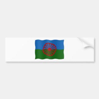 Roma flag bumper sticker