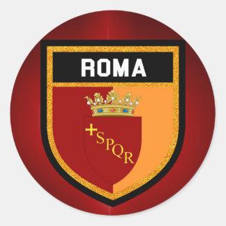 Roma Flag Round Sticker