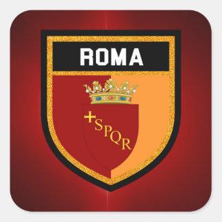 Roma Flag Square Sticker