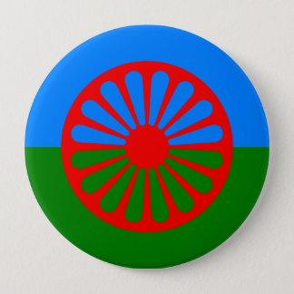 Roma, India 4 Inch Round Button