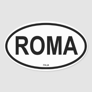 ROMA OVAL STICKER