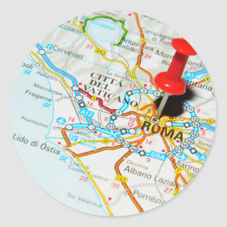 Roma (Rome) Italy Classic Round Sticker