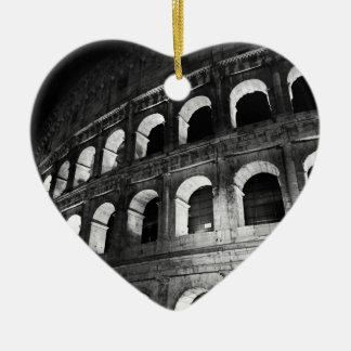 Roma Rome Italy Coliseum Colosseum Ceramic Heart Ornament