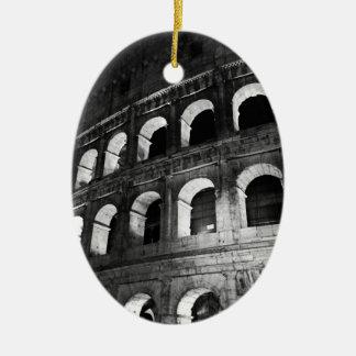 Roma Rome Italy Coliseum Colosseum Ceramic Oval Ornament