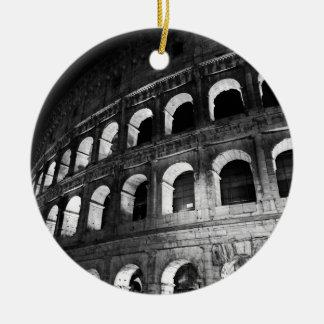 Roma Rome Italy Coliseum Colosseum Round Ceramic Ornament