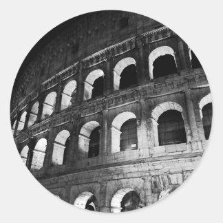 Roma Rome Italy Coliseum Colosseum Round Sticker