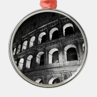 Roma Rome Italy Coliseum Colosseum Silver-Colored Round Ornament