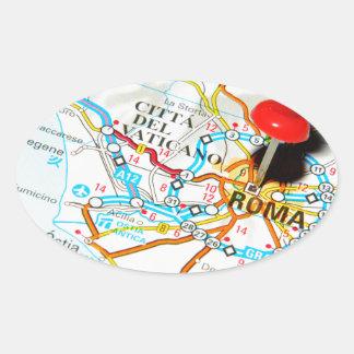 Roma (Rome) Italy Oval Sticker