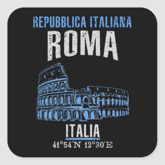 Roma Square Sticker