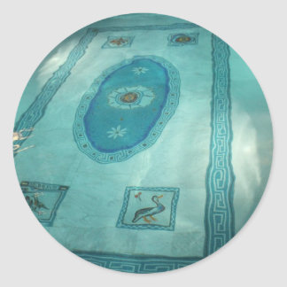 Roman antique Swimming Pool Classic Round Sticker