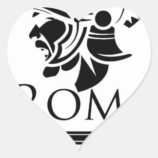 Roman Army - Legionary with Gladio Heart Sticker
