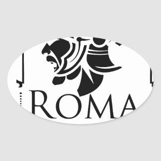 Roman Army - Legionary with Gladio Oval Sticker