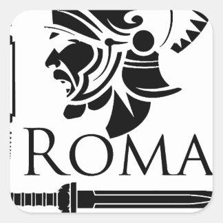 Roman Army - Legionary with Gladio Square Sticker