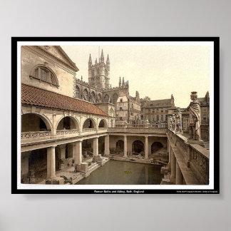 Roman Baths and Abbey, Bath, England Poster
