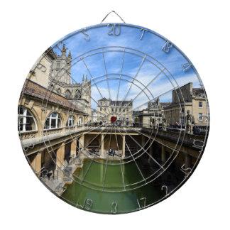 Roman Baths in Bath England Dartboard With Darts