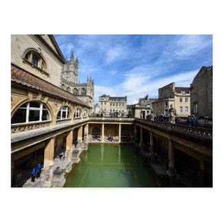 Roman Baths in Bath England Postcard