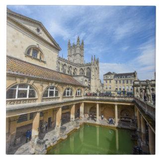 Roman Baths in Bath England Tile