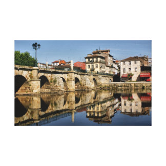 Roman Bridge at Chaves, Portugal Canvas Print