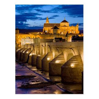Roman Bridge on Guadalquivir River in Cordoba Postcard